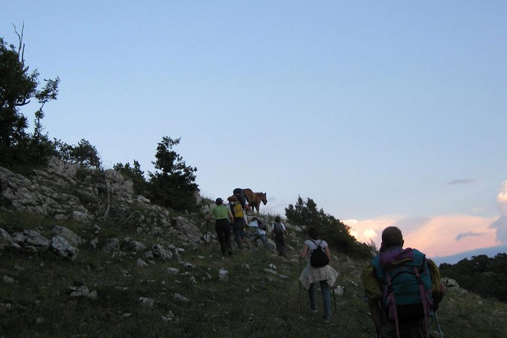 Escursione notturna sul Monte Tancia quasi in cima