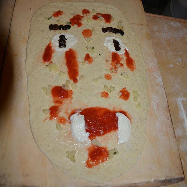 Pizza-mostro speciale bambini