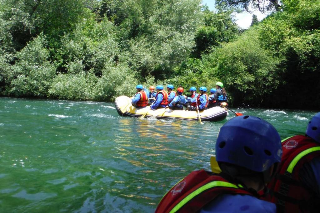 Rafting sul fiume Velino